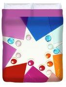 Colored Plexiglas Shapes Duvet Cover
