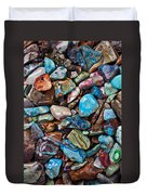 Colored Polished Stones Duvet Cover