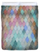 Colored Roof Tiles - Painting Duvet Cover