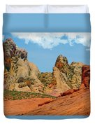 Colored Sandstones Valley Of Fire Duvet Cover