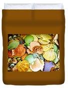 Colored Shells Duvet Cover