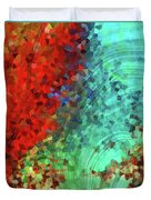 Colorful Abstract Art - Rejoice - Sharon Cummings Duvet Cover
