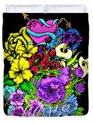 Colorful Art Love Bouquet Duvet Cover