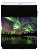Colorful Auroras Duvet Cover