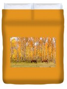 Colorful Autumn High Country Landscape Duvet Cover