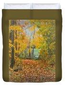 Colorful Autumn Trail Duvet Cover