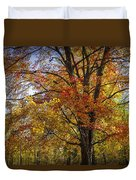 Colorful Autumn Tree In Southwest Michigan By Gun Lake Duvet Cover