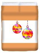 Colorful Baubles - 66 Duvet Cover
