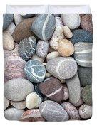 Colorful Beach Pebbles Duvet Cover
