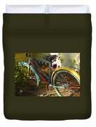 Colorful Bike Duvet Cover
