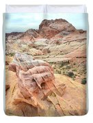 Colorful Boulder Above Wash 3 In Valley Of Fire Duvet Cover