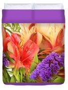Colorful Bouquet Of Flowers Duvet Cover