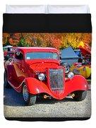 Colorful Car Show Duvet Cover