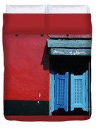 Colorful Caribbean Door Duvet Cover