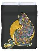 Colorful Cat Art Duvet Cover