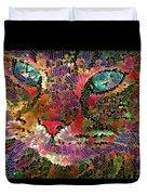Flower Cat 1 Duvet Cover