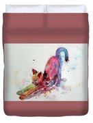 Colorful Cat Duvet Cover