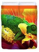 Colorful Chameleon Duvet Cover