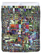 Colorful Chaotic Composite Duvet Cover