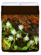 Colorful Chickweed Duvet Cover