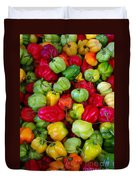 Colorful Chili Pepper Duvet Cover