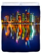 Colorful City Reflection 17 06 2015 Duvet Cover
