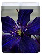 Colorful Clematis Duvet Cover