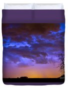 Colorful Cloud To Cloud Lightning Duvet Cover