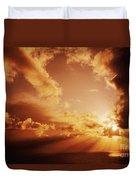 Colorful Cloudburst Duvet Cover