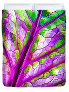 Colorful Coleus Abstract 1 Duvet Cover