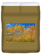 Colorful Colorado Autumn Landscape Duvet Cover