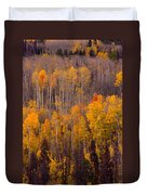 Colorful Colorado Autumn Landscape Vertical Image Duvet Cover