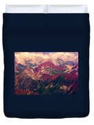 Colorful Colorado Rocky Mountains Duvet Cover