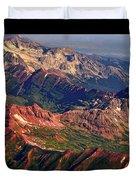 Colorful Colorado Rocky Mountains Planet Art Poster  Duvet Cover