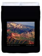 Colorful Colorado Rocky Mountains Planet Art Poster  Duvet Cover
