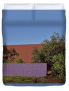 Colorful Commercial Building Exterior Duvet Cover