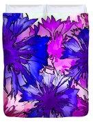 Colorful Cornflowers Duvet Cover