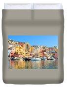 Colorful Corricella Duvet Cover
