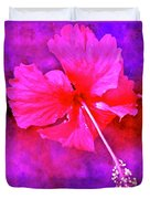 Colorful Cosmic Flower-hibiscus Duvet Cover