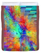 Colorful Crash 9 Duvet Cover