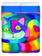 Colorful Crazy Cat Duvet Cover