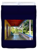 Colorful Creole Porch Duvet Cover by Carol Groenen