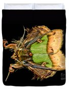Colorful Cryptic Moth Duvet Cover