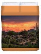 Colorful Desert Skies At Sunset  Duvet Cover