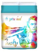 Colorful Dirty Harry Duvet Cover