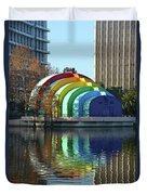 Colorful Downtown Orlando Duvet Cover