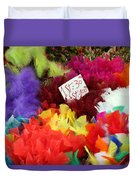 Colorful Easter Feathers Duvet Cover