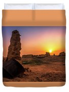 Colorful Evening In The Ruined World.. Duvet Cover