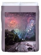 Colorful Explosions Duvet Cover