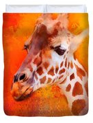 Colorful Expressions Giraffe Duvet Cover